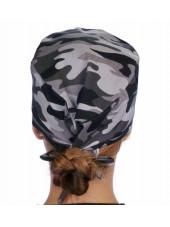 """Calot médical """"Camouflage militaire noir et gris"""" (210-8834) vue dos"""