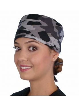 """Medical cap """"Black and grey military camouflage"""" (210-8834)"""