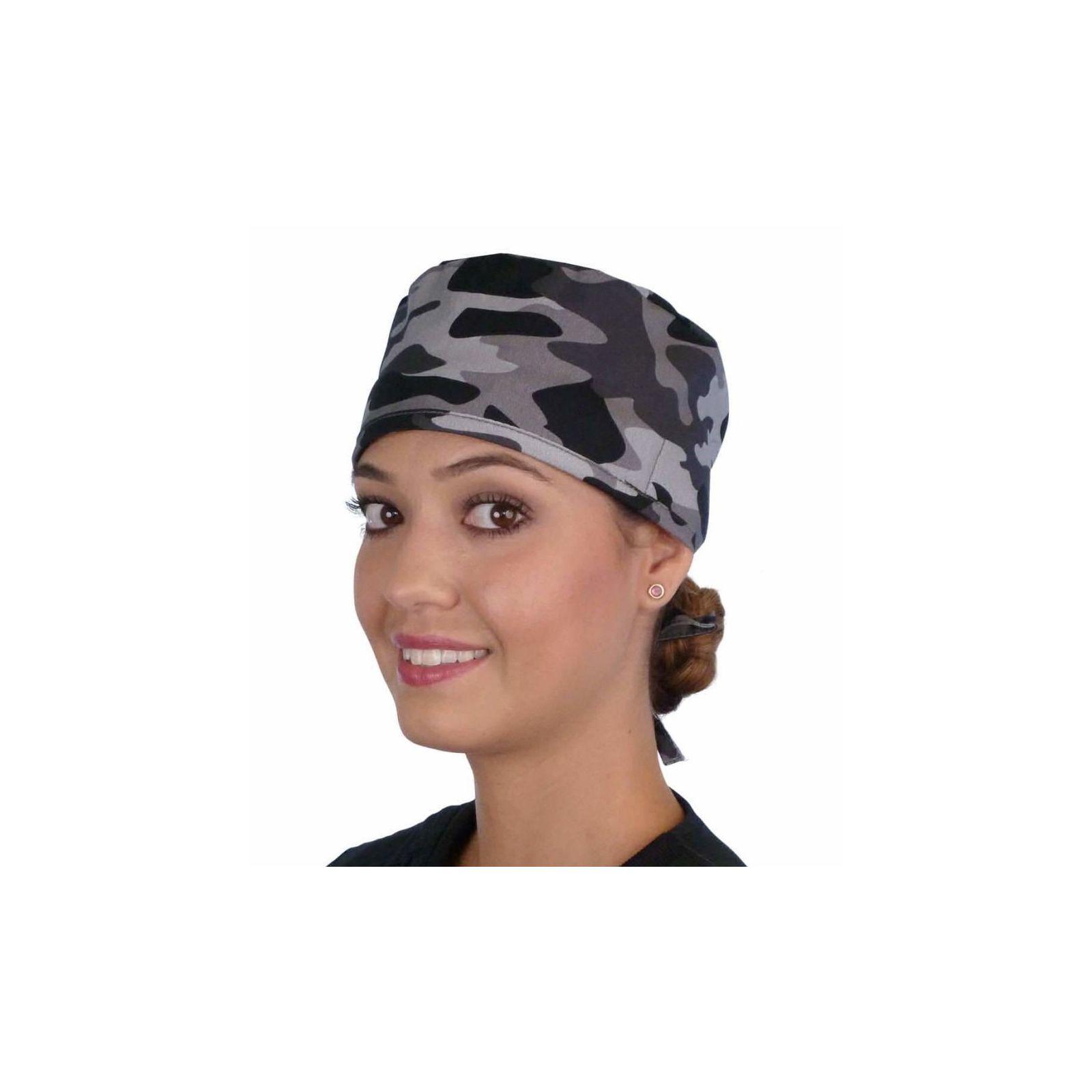 """Calot médical """"Camouflage militaire noir et gris"""" (210-8834) vue face"""