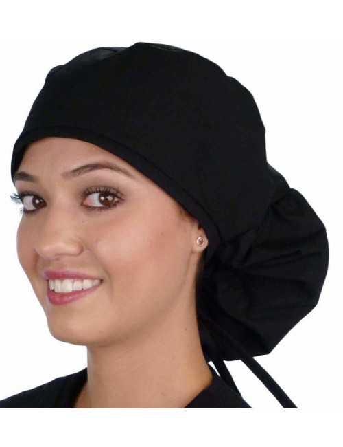 """Calot médical Cheveux Longs """"Noir"""" (815-1030)"""