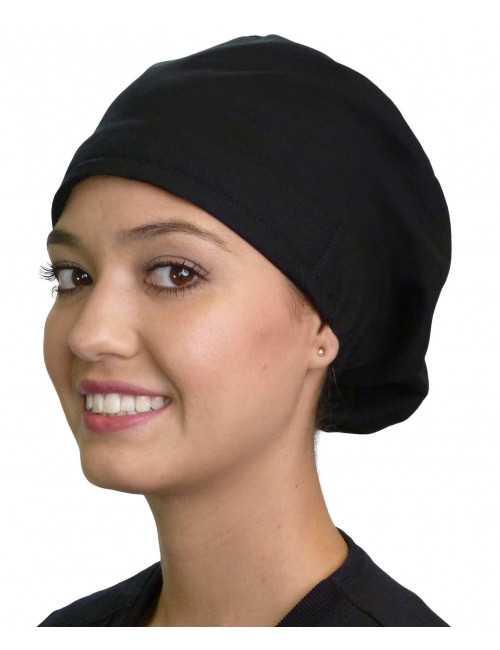 """Calot médical Cheveux Mi-Longs """"Noir"""" (218-1030)"""