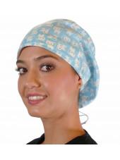 """Calot médical Cheveux Mi-Longs """"Etoiles sur fond bleu marine"""" (218-8463)"""