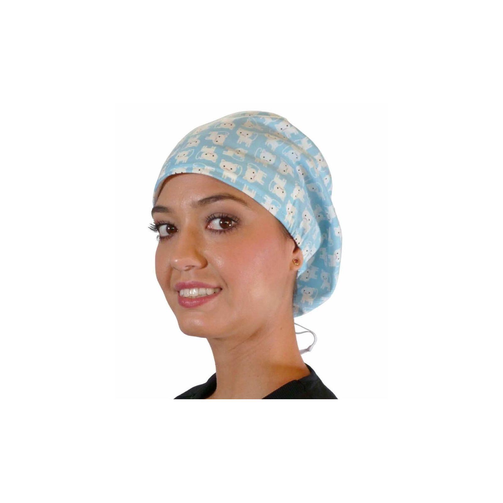 """Calot médical Cheveux Mi-Longs """"Petits chats"""" (218-8843) vue face"""
