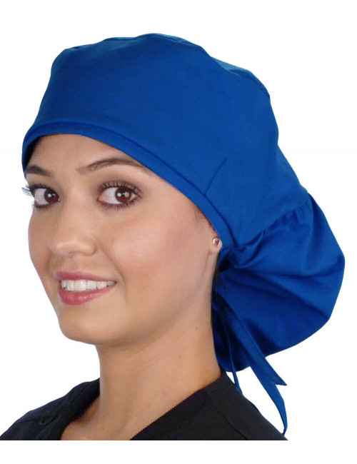 "Calot médical Cheveux Longs ""Bleu royal"" (815-1037)"