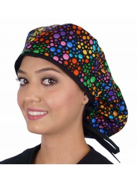"Medical cap Long Hair ""Multicoloured Peas"" (815-8655)"