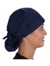 """Calot médical Cheveux Longs """"Bleu Marine"""" (815-1034) vue droite"""