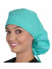 """Calot médical Cheveux Longs """"Vert clair"""" (815-1141) vue face"""