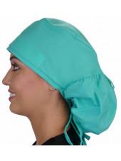 "Calot médical Cheveux Longs ""Vert clair"" (815-1141) vue gauche"