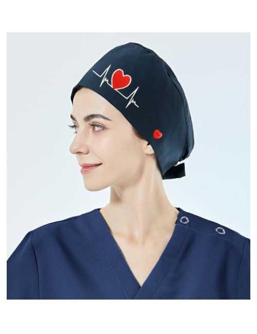 """Calot médical """"Battements coeur fond bleu"""" (209-24002)"""