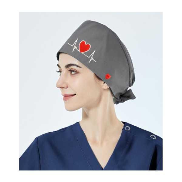 """Calot médical """"Battements coeur fond gris"""" (209-24001)"""
