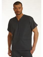 Blouse médicale Homme, 2 poches, Cherokee Workwear Originals (4700) gris vue modele coté