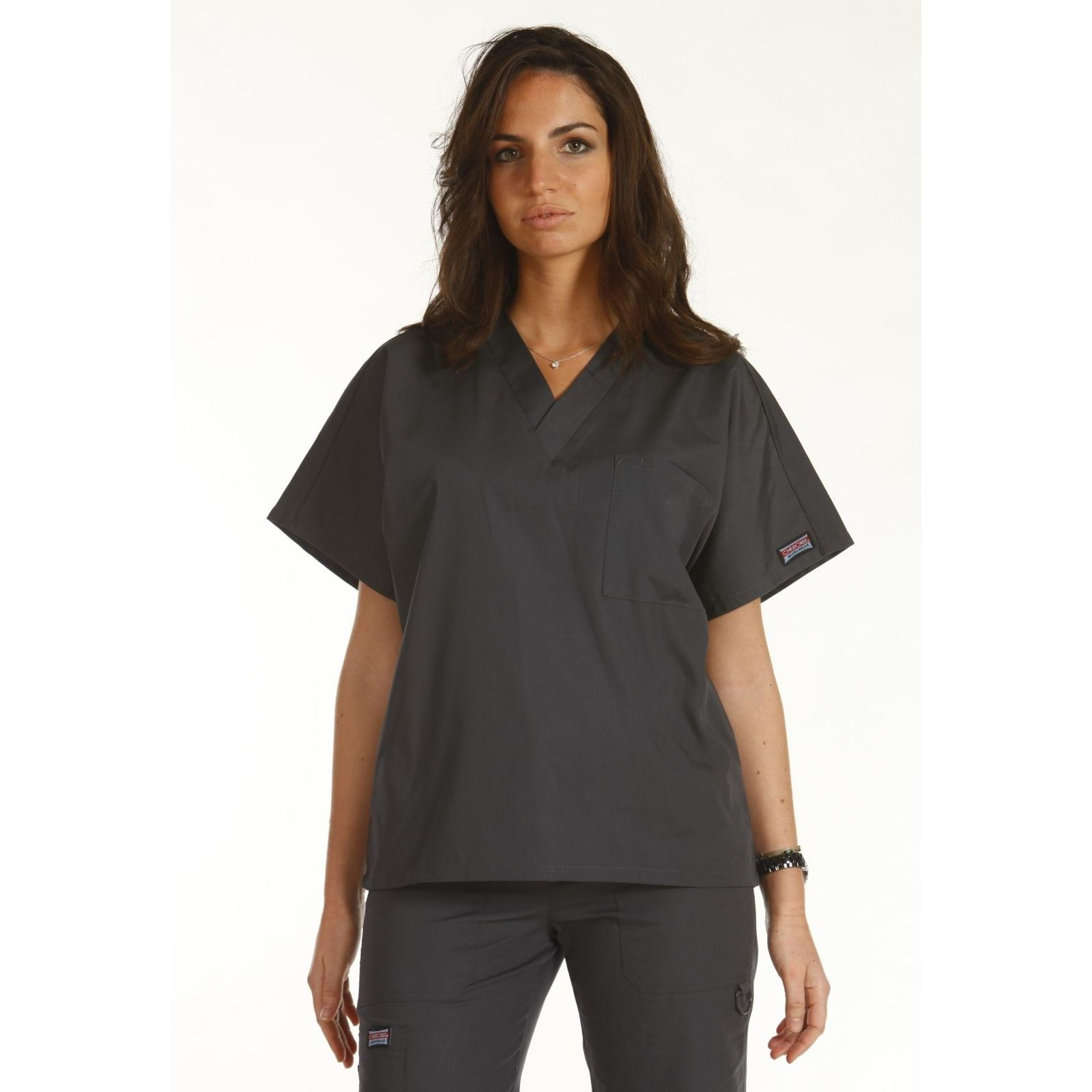 Blouse médicale Femme, 1 poche, Cherokee Workwear Originals (4777) gris modele