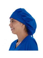 Calot médical Cheveux Longs Bleu royal (VT521ROY) vue gauche