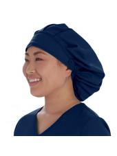 Calot médical Cheveux Longs Bleu marine (VT521NAV) vue droite