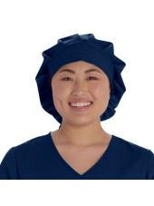 Calot médical Cheveux Longs Bleu marine (VT521NAV) vue face