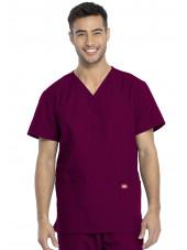 Ensemble médical Blouse et Pantalon, Unisexe, Dickies (DKP520C) blouse homme face bordeaux