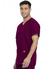 Ensemble médical Blouse et Pantalon, Unisexe, Dickies (DKP520C) blouse homme droite bordeaux