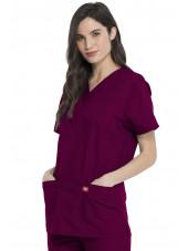 Ensemble médical Blouse et Pantalon, Unisexe, Dickies (DKP520C) blouse femme droite bordeaux