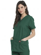 Ensemble médical Blouse et Pantalon, Unisexe, Dickies (DKP520C) blouse femme droite vert chirurgien