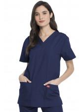 Ensemble médical Blouse et Pantalon, Unisexe, Dickies (DKP520C) blouse femme face bleu marine