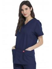Ensemble médical Blouse et Pantalon, Unisexe, Dickies (DKP520C) blouse femme droite bleu marine