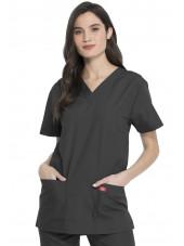 Ensemble médical Blouse et Pantalon, Unisexe, Dickies (DKP520C) blouse femme face gris