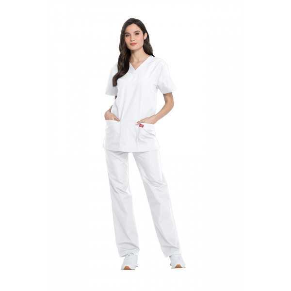 Ensemble médical Blouse et Pantalon, Unisexe, Dickies (DKP520C) femme face