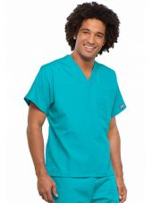 Blouse médicale Homme, 1 poche, Cherokee Workwear Originals (4777) turquoise droite