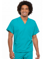 Blouse médicale Homme, 1 poche, Cherokee Workwear Originals (4777) turquoise face