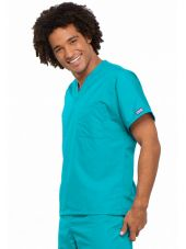 Blouse médicale Homme, 1 poche, Cherokee Workwear Originals (4777) turquoise gauche