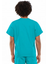 Blouse médicale Homme, 1 poche, Cherokee Workwear Originals (4777) turquoise dos