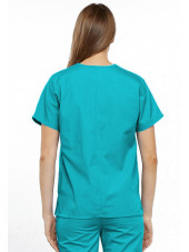 Blouse médicale Femme, 2 poches, Cherokee Workwear Originals (4700) turquoise dos