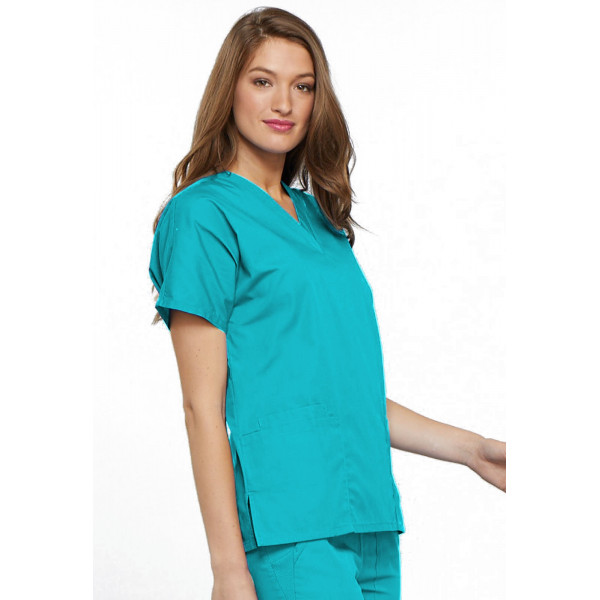 Blouse médicale Femme, 2 poches, Cherokee Workwear Originals (4700) turquoise droite