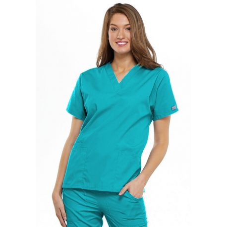 Blouse médicale Femme, 2 poches, Cherokee Workwear Originals (4700) turquoise face