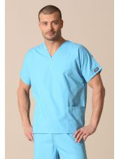 Blouse médicale Homme, 2 poches, Cherokee Workwear Originals (4700) turquoise vue modele