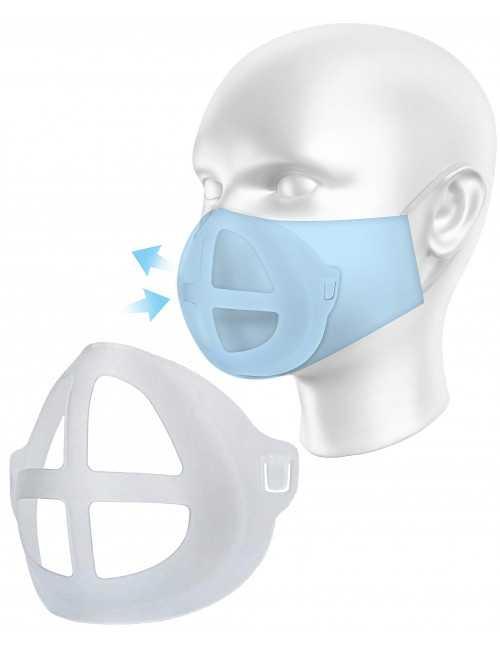 Pack de 10 - Support masque silicone 3D (COQUEMASQ)