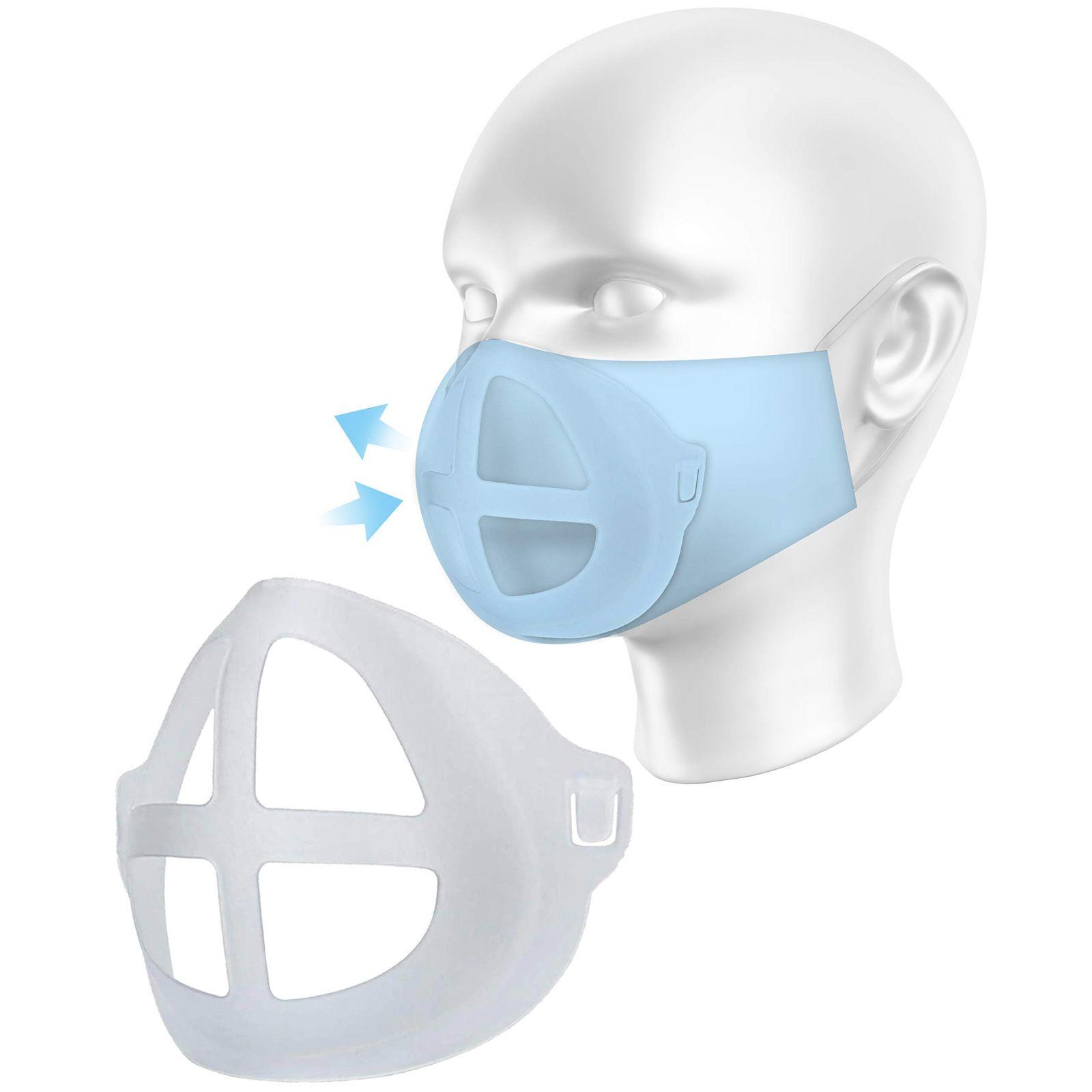 Pack de 10 - Support masque silicone 3D (COQUEMASQ) vue pratique