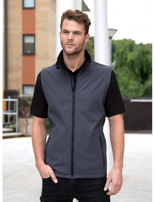 Men's Softshell sleeveless jacket (R232M)