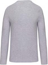 T-shirt col rond manches longues Unisexe (K359) vue produit gris clair dos