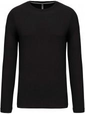 T-shirt col rond manches longues Unisexe (K359) vue produit noir face