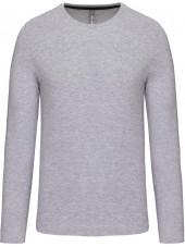T-shirt col rond manches longues Unisexe (K359) vue produit gris clair face