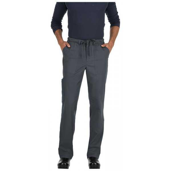 """Pantalon médical homme KOI, """"Koi Stretch"""" (604-) gris face"""