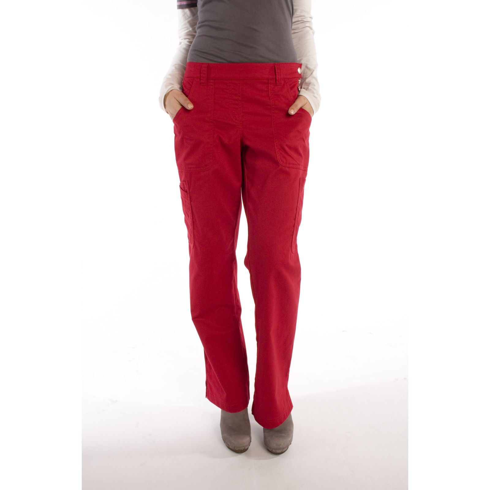 "Pantalon élastique, femme ""Katelyn"", Koi (709-) rouge face"