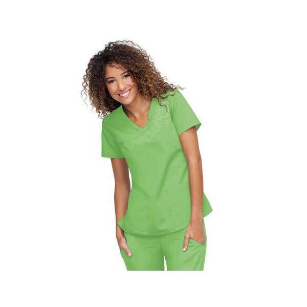 Blouse médicale Femme Malibu, Koi collection Orange (G3100) vert pomme face