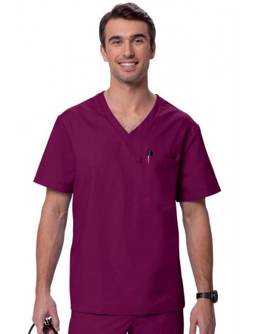 "Blouse médicale Homme ""Newport"", Koi collection Orange (G3108) bordeaux"