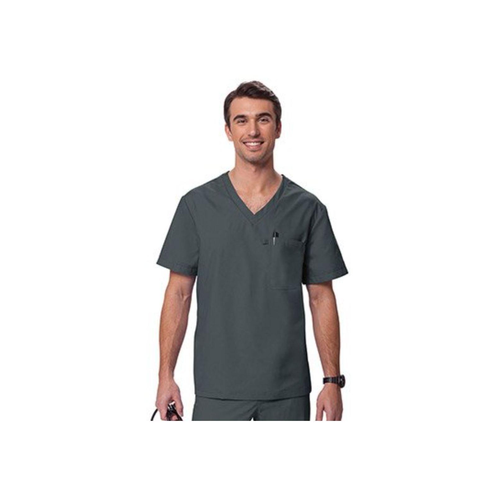 """Blouse médicale Homme """"Newport"""", Koi collection Orange (G3108) gris"""