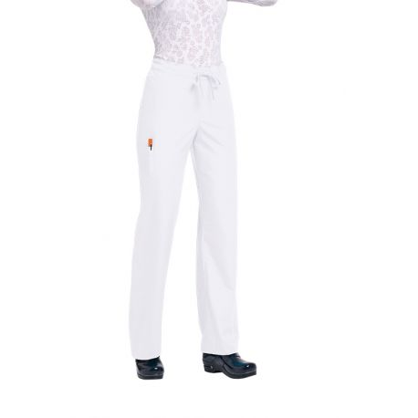 "Pantalon médical Unisexe ""Huntington"", Koi collection Orange (G3702) blanc"