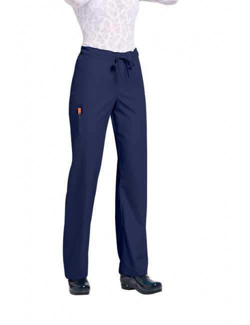 "Pantalon médical Unisexe ""Huntington"", Koi collection Orange (G3702) bleu marine"