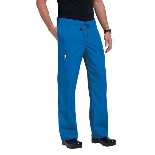 "Pantalon médical Unisexe ""Huntington"", Koi collection Orange (G3702) bleu royal"