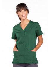 Blouse médicale Femme boutons pression, Cherokee Workwear Originals (4770) vert chirurgien vue face